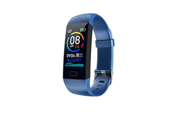1.14inch Color Screen Blood Pressure Heart Rate Monitor Sport bluetooth Smart Wristband Watch-BLUE