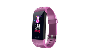1.14inch Color Screen Blood Pressure Heart Rate Monitor Sport bluetooth Smart Wristband Watch-PURPLE