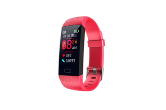 1.14inch Color Screen Blood Pressure Heart Rate Monitor Sport bluetooth Smart Wristband Watch-RED
