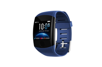1.3inch Color Screen Blood Pressure Heart Rate Monitor Sport bluetooth Smart Wristband Watch-BLUE