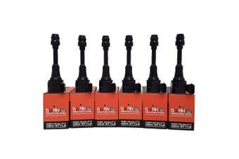 Pack of SWAN Ignition Coils & NGK Spark Plugs for Nissan Navara & Pathfinder