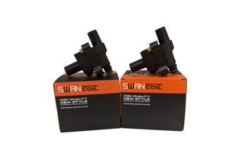 Pack of 2 - SWAN Ignition Coils for Mercedes Benz MB100, MB140, SLK200 & SLK230