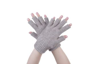 McDonald Mocha Possum Fur Merino Fingerless Gloves