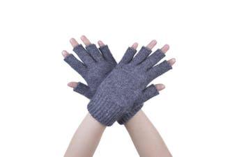 McDonald Pewter Possum Fur Merino Fingerless Gloves