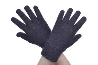 McDonald Charcoal Possum Fur Merino Full Finger Gloves