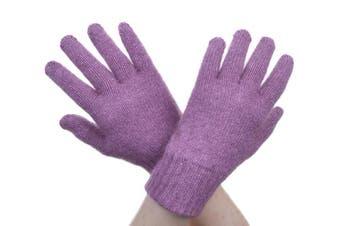McDonald Heather Possum Fur Merino Full Finger Gloves