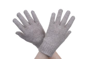 McDonald Mocha Possum Fur Merino Full Finger Gloves
