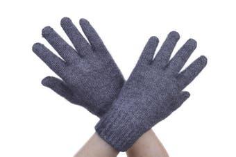 McDonald Pewter Possum Fur Merino Full Finger Gloves