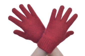 McDonald Red Possum Fur Merino Full Finger Gloves