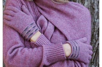 McDonald Heather Possum Merino Wave Trim Glove