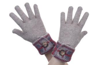 McDonald Mocha Possum Merino Tartan Glove