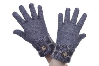 McDonald Pewter Possum Merino Tartan Glove