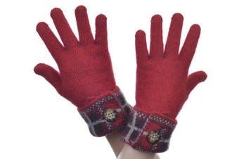 McDonald Red Possum Merino Tartan Glove