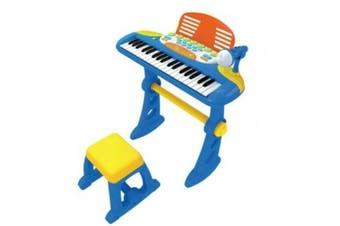Lenoxx Kids 37 Key Electronic Keyboard Organ Piano Toy w/ Microphone Music Play- Blue