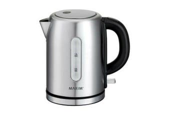 Maxim 1L Litre 2200W Stainless Steel Small Electric Cordless Kettle Boiler Jug