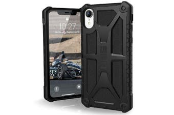 UAG MONARCH HANDCRAFTED RUGGED CASE FOR IPHONE XR - BLACK