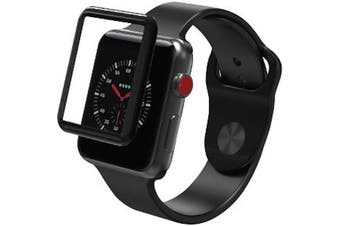 ZAGG INVISIBLE SHIELD GLASS CURVE ELITE TEMPERED GLASS SCREEN PROTECTOR FOR APPLE WATCH SERIES 3 (38MM)