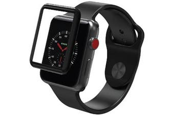 ZAGG INVISIBLE SHIELD GLASS CURVE ELITE TEMPERED GLASS SCREEN PROTECTOR FOR APPLE WATCH SERIES 3 (42MM)
