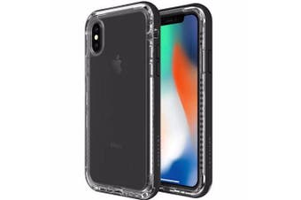 LIFEPROOF NEXT SERIES RUGGED CASE FOR iPHONE XS/X - CLEAR/BLACK