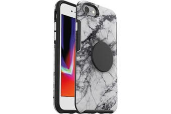 OTTERBOX OTTER + POP SYMMETRY CASE FOR IPHONE SE(2020) - WHITE MARBLE