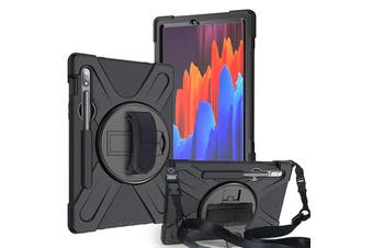 FLEXII GRAVITY Pirate Rugged Case For Galaxy Tab S7 (SM-T870/T875) - BLACK