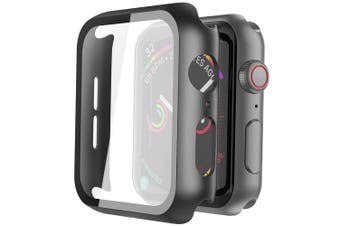 Lito Tempered Glass Screen Protector PC Case For Apple Watch Series SE/6/5/4 (44MM)