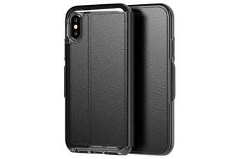 TECH21 EVO WALLET CARD FOLIO CASE FOR IPHONE XS/X - BLACK