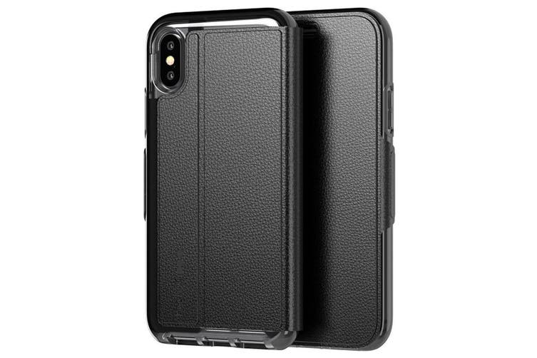TECH21 EVO WALLET CARD FOLIO CASE FOR IPHONE XS/X - BLACK