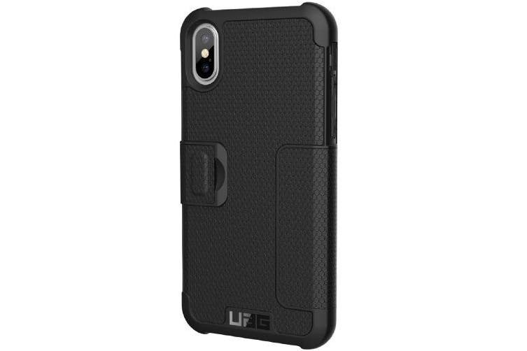UAG METROPOLIS CARD FOLIO CASE FOR iPHONE XS/X - BLACK