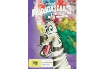 Madagascar 3 Europes Most Wanted DVD Region 4