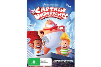 Captain Underpants The First Epic Movie DVD Region 4