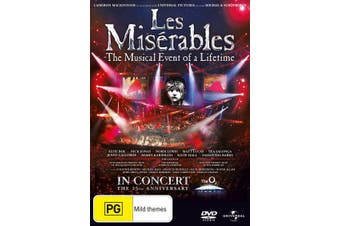 Les Misérables In Concert 25th Anniversary Show DVD Region 4