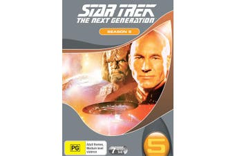 Star Trek the Next Generation The Complete Season 5 Box Set DVD Region 4