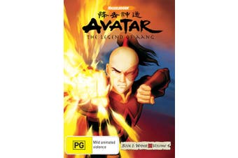 Avatar The Last Airbender Book 1 Water Volume 4 DVD Region 4