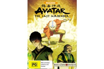 Avatar The Last Airbender Book 2 Earth Volume 4 DVD Region 4