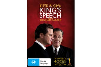 The Kings Speech DVD Region 4