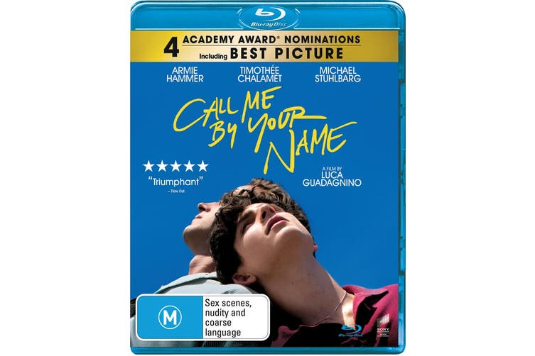 Call Me By Your Name Blu-ray Region B