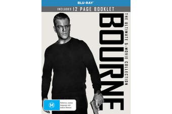 Bourne The Ultimate 5 Movie Collection Box Set Blu-ray Region B