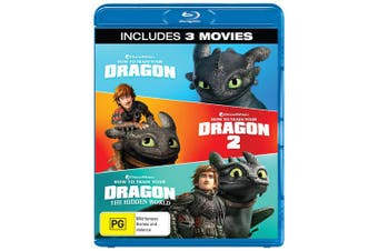 How to Train Your Dragon 1-3 Box Set Blu-ray Region B