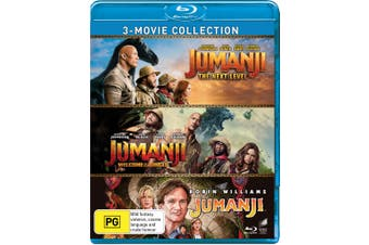 Jumanji / Welcome to the Jungle / The Next Level Box Set Blu-ray Region B