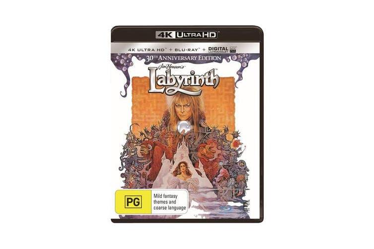 Labyrinth 4K Ultra HD Blu-ray Digital Download UHD Region B