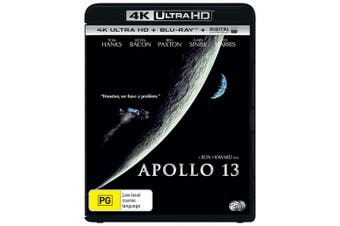 Apollo 13 4K Ultra HD Blu-ray Digital UV Copy Blu-ray Region B