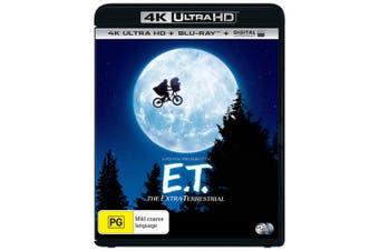 ET The Extra Terrestrial 4K Ultra HD Blu-ray Digital UV Copy Blu-ray Region B
