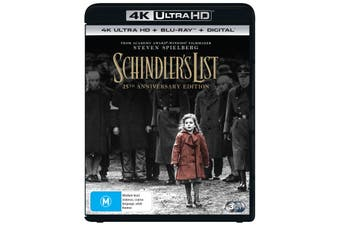 Schindlers List 4K Ultra HD Blu-ray UHD Region B