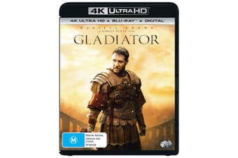 Gladiator 4K Ultra HD Blu-ray Digital Download UHD Region B