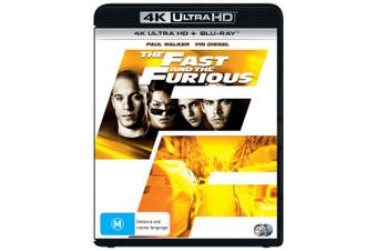 The Fast and the Furious 4K Ultra HD Blu-ray UHD Region B