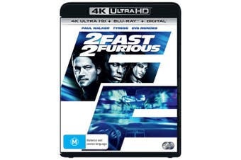 2 Fast 2 Furious 4K Ultra HD Blu-ray Digital Download UHD Region B