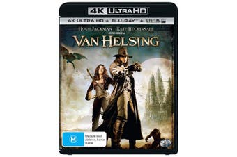 Van Helsing 4K Ultra HD Blu-ray Digital UV Copy Blu-ray Region B