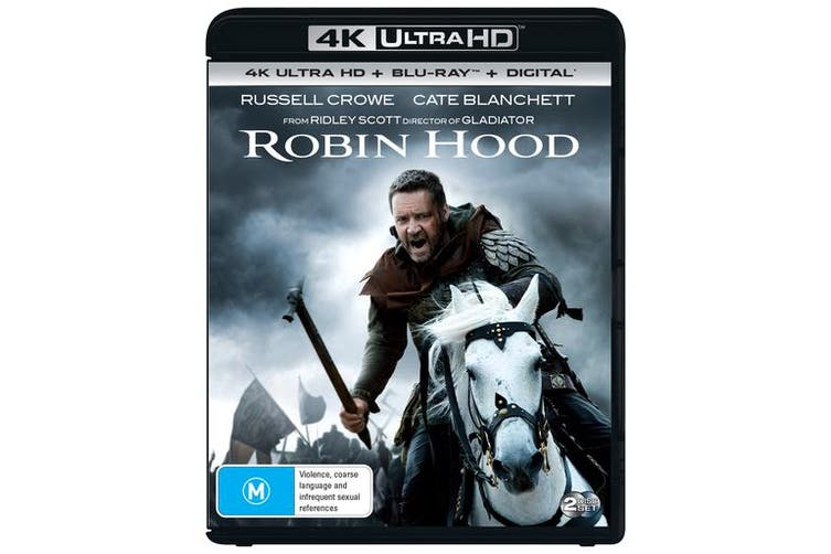 Robin Hood 4K Ultra HD Blu-ray Digital Download UHD Region B