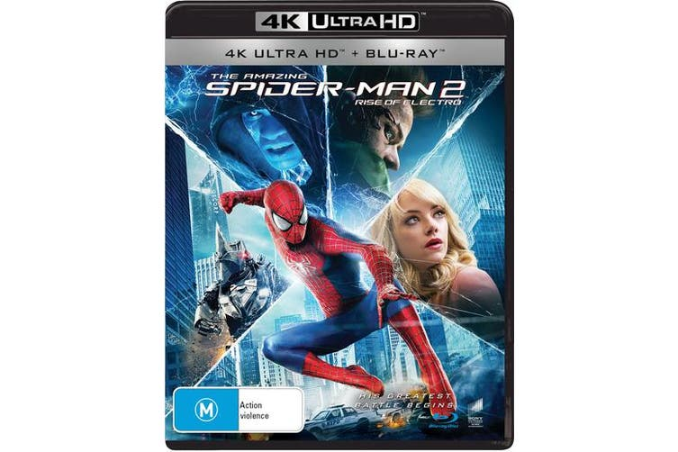 The Amazing Spider Man 2 4K Ultra HD Blu-ray UHD Region B
